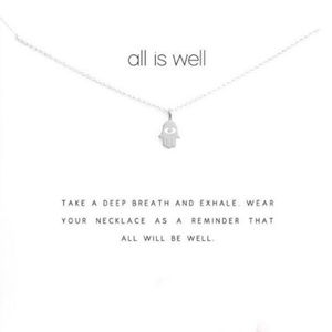 All is Well Charm Necklace